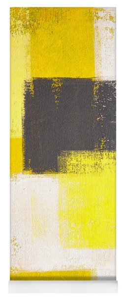 Simply Modern - Grey And Yellow Abstract Art Painting Yoga Mat