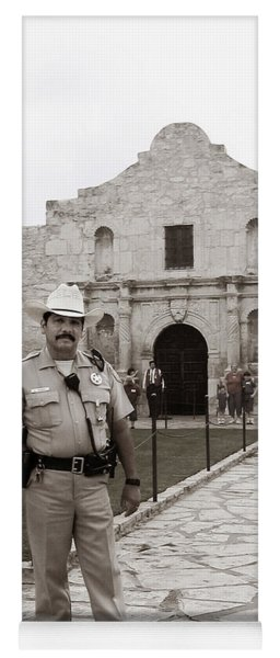 Yoga Mat featuring the photograph He Guards The Alamo by Lorraine Devon Wilke