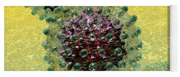 Hepatitis B Virus Particles Yoga Mat