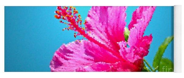 Hibiscus Crystal Luster Yoga Mat