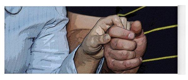 Holding Hands Yoga Mat