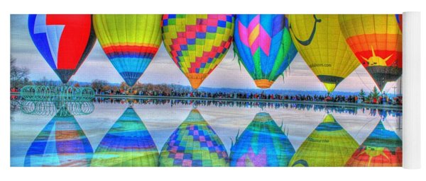 Hot Air Balloons At Eden Park Yoga Mat