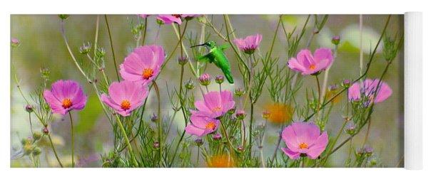 Hummingbird In The Cosmos Yoga Mat