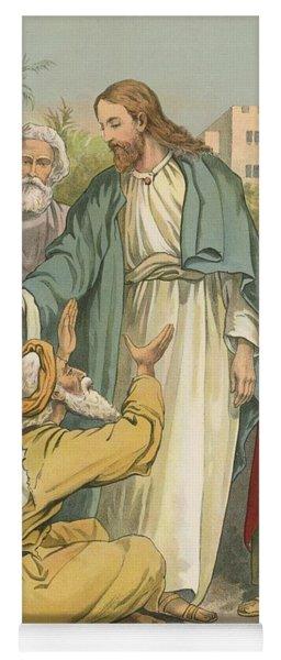 Jesus And The Blind Men Yoga Mat