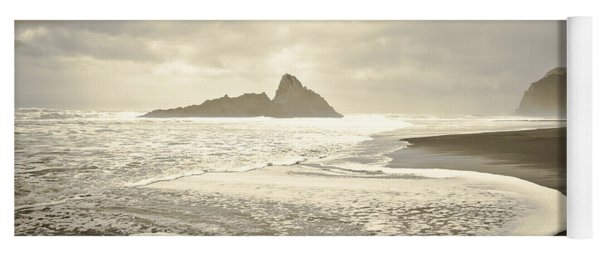 Karekare Beach In New Zealand Yoga Mat