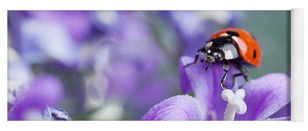 Ladybug And Bellflowers Yoga Mat