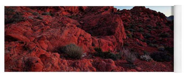 Last Light In Valley Of Fire Yoga Mat