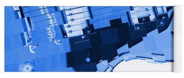 Abstract Guitar In Blue 2 Yoga Mat