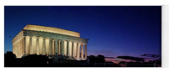 Lincoln Memorial At Sunset Yoga Mat