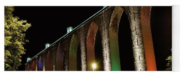 Lisbon Historic Aqueduct By Night Yoga Mat