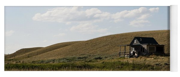 Yoga Mat featuring the photograph Little House On The Plains by Lorraine Devon Wilke
