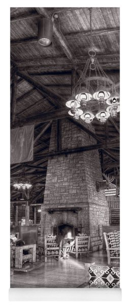 Lodge Starved Rock State Park Illinois Bw Yoga Mat