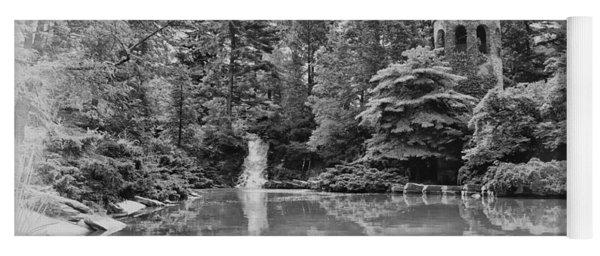Longwood Gardens Castle In Black And White Yoga Mat