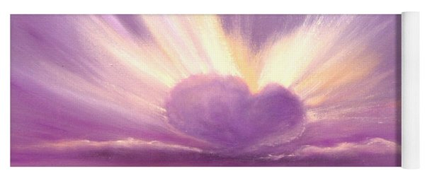 Love At Sunset Yoga Mat