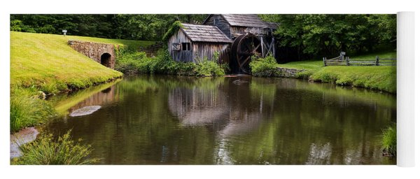Mabry Mill And Pond Yoga Mat