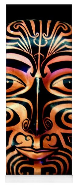 Yoga Mat featuring the sculpture Maori Mask by Michelle Dallocchio