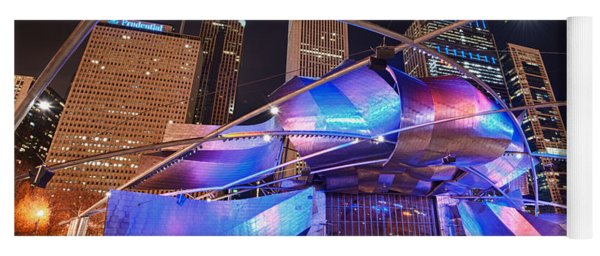 Yoga Mat featuring the photograph Millennium Park by Sebastian Musial