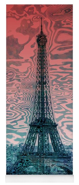 Modern-art Eiffel Tower 17 Yoga Mat