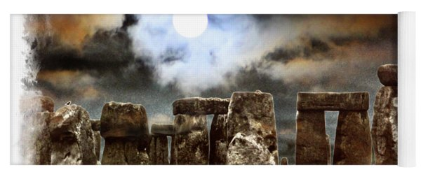 Moon Over Stonehenge Yoga Mat
