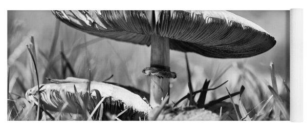Mushroom In Black And White Yoga Mat