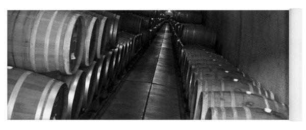 Napa Wine Barrels In Cellar Yoga Mat