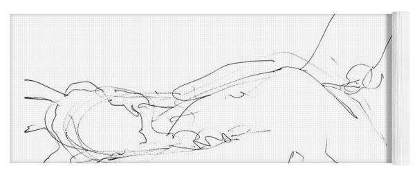 Nude-male-drawings-12 Yoga Mat
