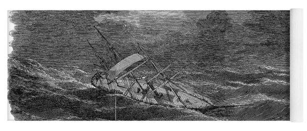 Ocean: Cyclone, 1853 Yoga Mat