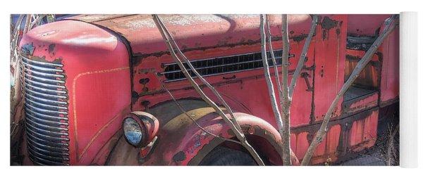 Old Firetruck Yoga Mat