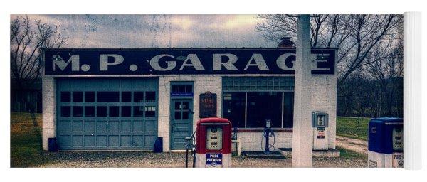 Old  Gas Station  Yoga Mat
