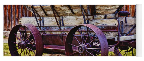 Old Wagon Bodie Ghost Town Yoga Mat