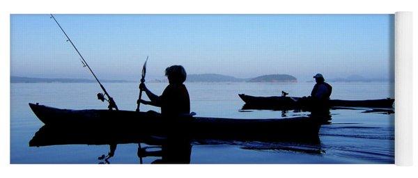 Yoga Mat featuring the photograph On The Deep Blue Sea by Lorraine Devon Wilke