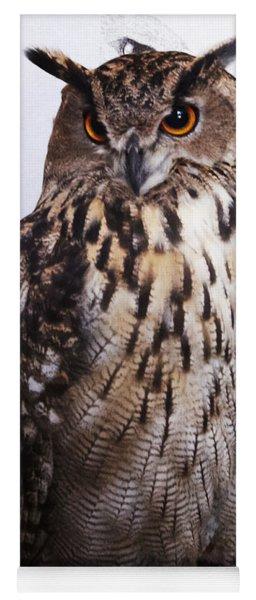 Orange Owl Eyes Yoga Mat