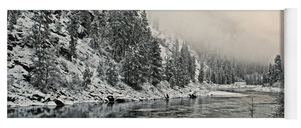 Orofino Snow Clearwater River Yoga Mat
