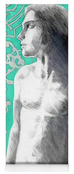 Yoga Mat featuring the painting Dorian Gray by Rene Capone