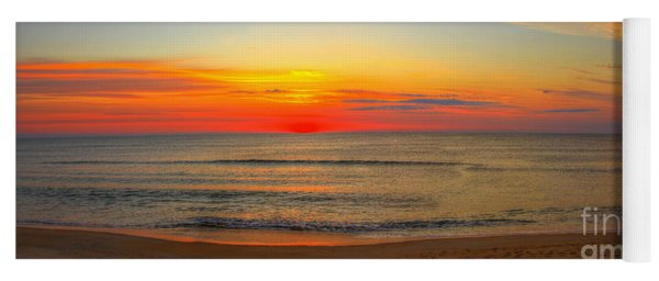 Panoramic Beach Sunrise Outer Banks Yoga Mat