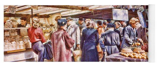 Parisian Market 1954 Yoga Mat