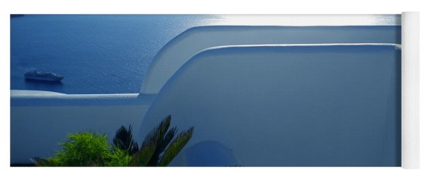 Peaceful Sunset Santorini Yoga Mat