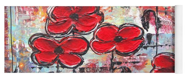 Perfect Poppies Yoga Mat
