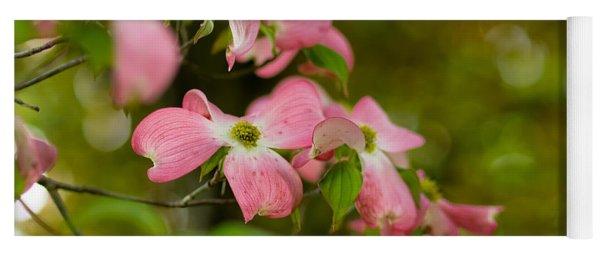 Pink Dogwood Blooms Yoga Mat