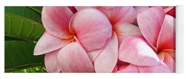 Pink Plumerias Yoga Mat