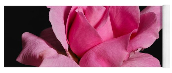 Pink Tea Rose Yoga Mat