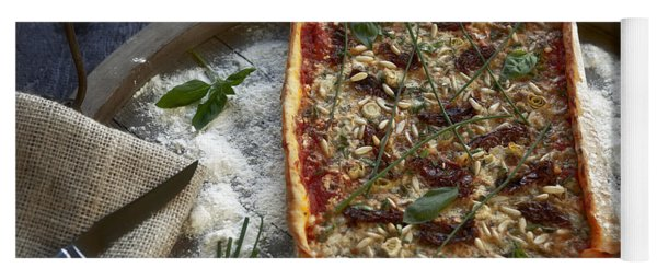 Pizza With Herbs Yoga Mat
