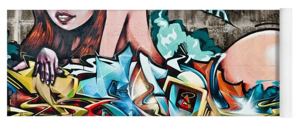 Plunged In Graffiti Yoga Mat