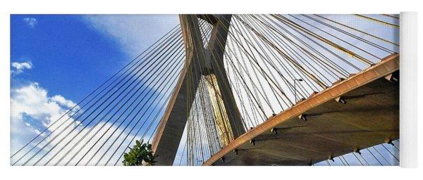Ponte Estaiada Octavio Frias De Oliveira Ao Cair Da Tarde Yoga Mat
