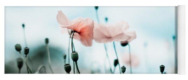 Poppy Flowers 02 Yoga Mat