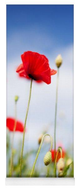 Poppy Flowers 06 Yoga Mat