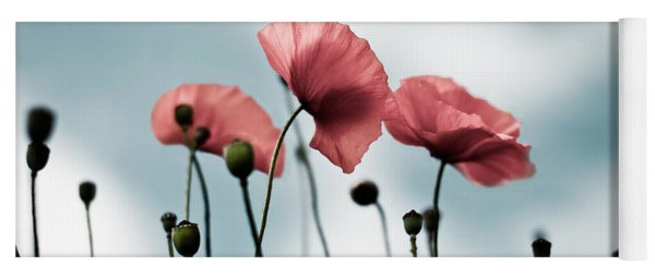 Poppy Flowers 07 Yoga Mat
