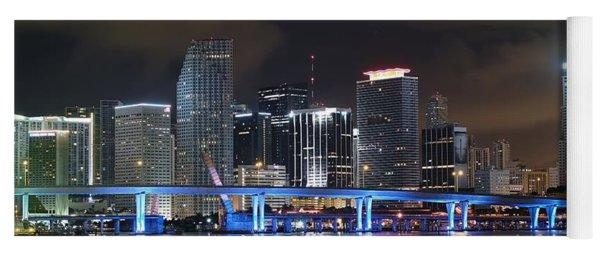 Port Of Miami Downtown Yoga Mat