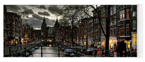 Prinsengracht And Spiegelgracht. Amsterdam Yoga Mat