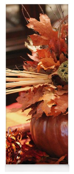 Pumpkin Leaf Decor Yoga Mat
